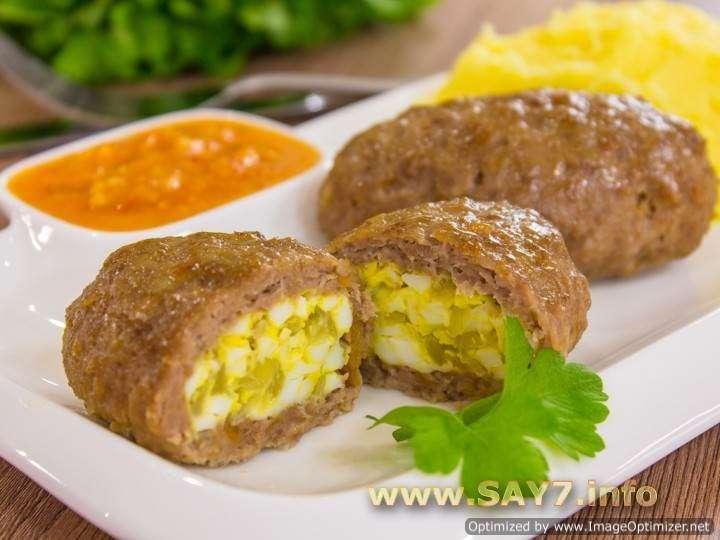 Мясные зразы с яйцом в духовке пошаговый рецепт с
