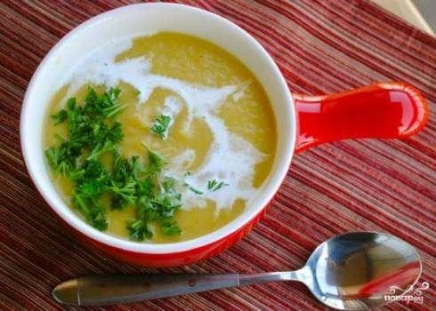Лук порей рыбный суп
